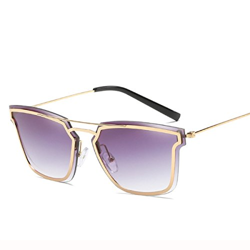 Wkaijc Trend Metall Damen Mode Persönlichkeit Kreativität Lässig Bequem Sonnenbrillen Sonnenbrillen,E