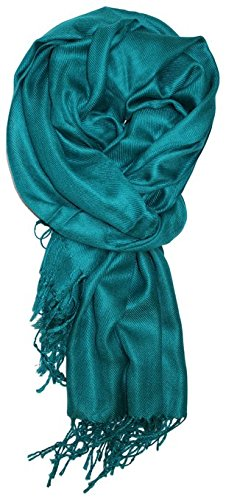 LibbySue-A Luxurious Pashmina Scarf in Teal