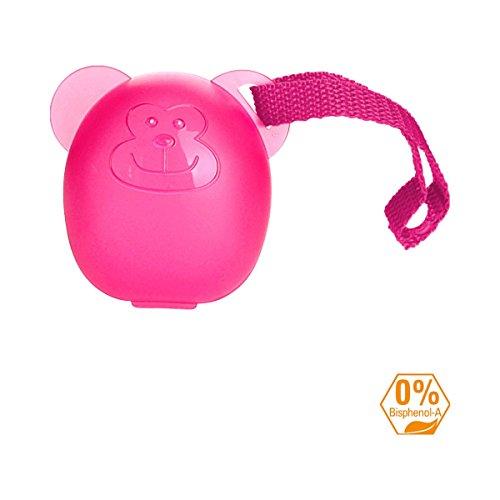 DIAGO Schnullerbox Schnulleraufbewahrung, pink