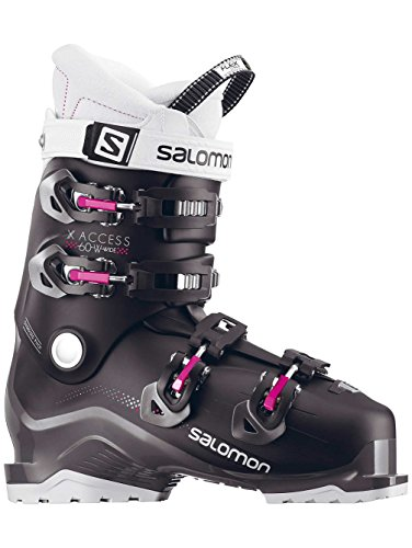 Salomon X-Access 60 W Wide Womens Ski Boots 2018 - 22.5/Black-Anthracite-Pinks07 ()