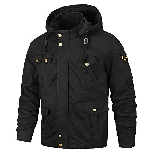 Jacket Men Waterproof. Men's Autumn Winter Coats Casual Military Equipment Fashion Trend Jacket Black