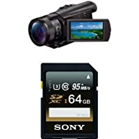 Sony FDR-AX100/B 4K Video Camera with 3.5-Inch LCD (Black) with Memory Card