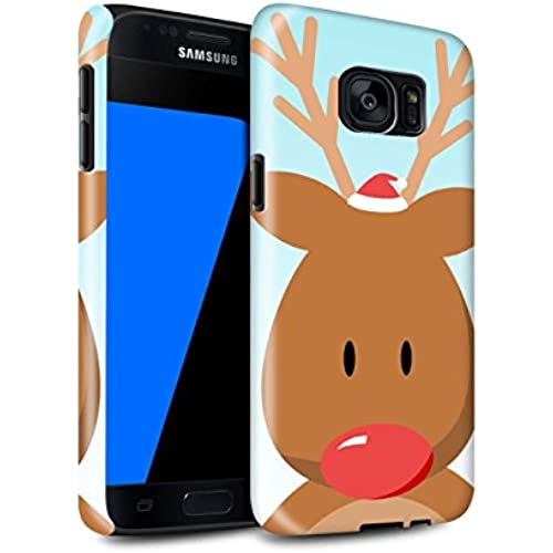STUFF4 Gloss Tough Shock Proof Phone Case for Samsung Galaxy S7/G930 / Rudolph/Reindeer Design / Christmas Character Collection Sales