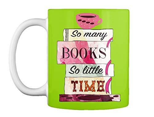 teespring So many books so little time 11oz - Lime green Mug - Teespring Mug