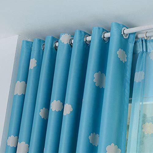 Onepeak Nuages d'impression florale rideau de fenêtre Blockout épaississent les rideaux de tissu œillet