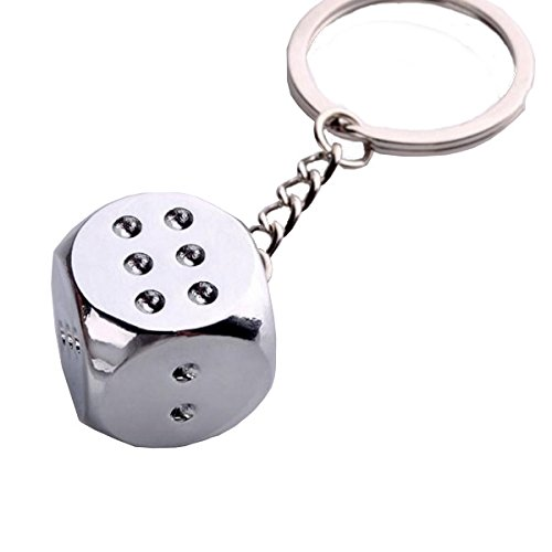 Key Case & Chains - Dice Pendant Key Chain Creative Metal Key Chains For Car Key Door Key - Dice Keychain Set Bulk Charms 20 Blue Purple Red Travel Metal - Pilot Automotive Rear View Mirror - 1PCs