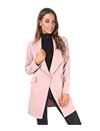 KRISP Women Tailored Oversized Button Long Blazer Coat Jacket