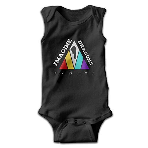Imagine-Dragons-Evolve Baby Newborn Crawling Suit Sleeveless Onesie Romper Jumpsuit Black
