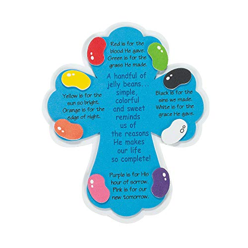 Fun Express - Jelly Bean Prayer Magnet ck for Easter - Craft Kits - Stationary Craft Kits - Magnet - Easter - 12 -
