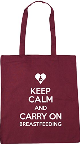 Tote 42cm Bag Gym litres x38cm Shopping and On Beach 10 Burgundy HippoWarehouse Breastfeeding Keep Carry Calm qwYPC