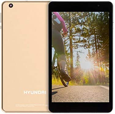 Hyundai Koral 8W2 Android Tablet 8 Inch HD IPS Display, WiFi, 2GB RAM, 16 GB Storage, Google Certified, Android 9.0 Pie, Dual Camera, Bluetooth, [Gold Metal]