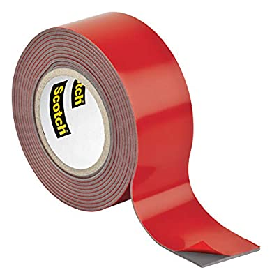 Scotch Mounting, Fastening & Surface Protection Scotch Outdoor Mounting Tape, x 60-inches, Gray, 1-Roll (411P), 1-inch inches, 15 Pound