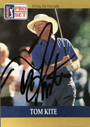 (Tom Kite Signed 1990 Pro Set Card - Autographed Golf Cards)
