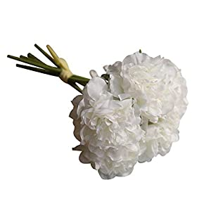 lightclub 1 Bouquet Artificial Peony Flower Photography Prop Wedding Party Floral Decor for Living Room, Garden, Balcony, Restaurant, Cafe House White 20
