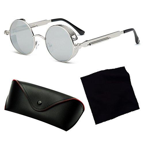 4c975fb192ce ... Steampunk ronde gothique lunettes de soleil pour hommes femmes hibote  rétro Vintage Punk Style lunettes de ...