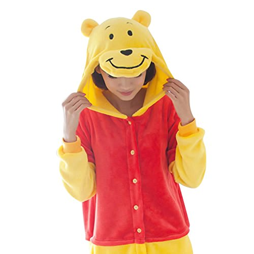 SaiDeng Warm Unisex-adult Kigurumi Onesie Clothing Adult Cosplay Style Pajamas M Winnie