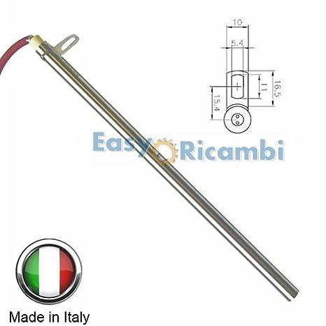 Edilkamin - Italiana Camini - Bujía de resistencia para el encendido de estufas de pellets, 270/280 mm, 12,5 mm de diámetro, 470 W: Amazon.es: Hogar