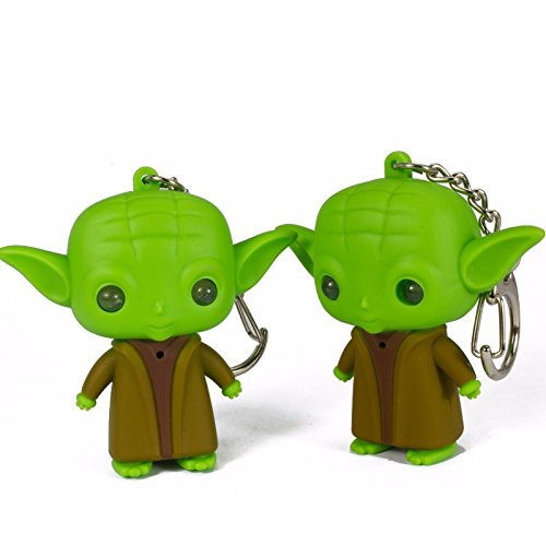 G0117 Star War Jedi Master Yoda with Sound and Led Flashlight Action Figure Toys Keychain