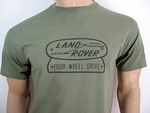Land Rover Vier Radantrieb Logo T-Shirt in Gr. XXL (47bis 124,5cm)–