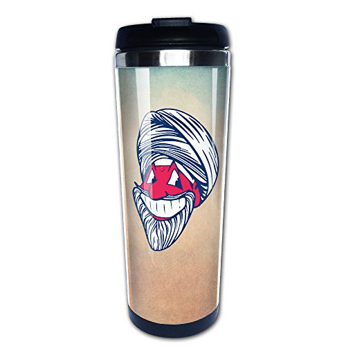 Boomy Cool Cleveland Baseball Team Head Stainless Steel Coffee Mug For Indoor & Outdoor Office School Gym Use