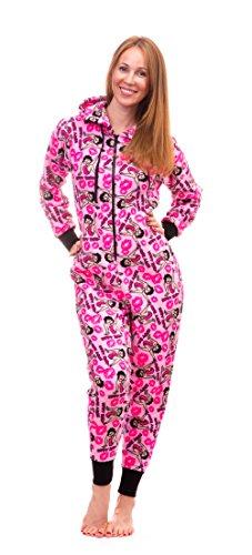 Cozy Pink Pajamas (Betty Boop Women's Warm and Cozy Plush Onesie Pajama (Small, Pink))