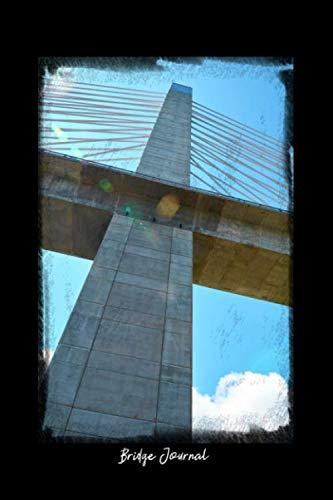Bridge Journal: Dot Grid Journal - Bridge Sky Maine Lens Flare Penobscot Narrows - black Dotted Diary, Planner, Gratitude, Writing, Travel, Goal, Bullet Notebook - 6x9 120 pages
