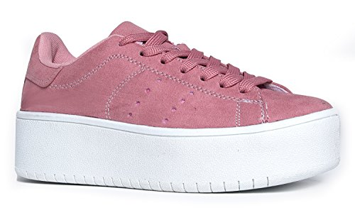 J. Adams Hero Platform Lace Up Sneaker Dusty Pink, 7 B(M) US -