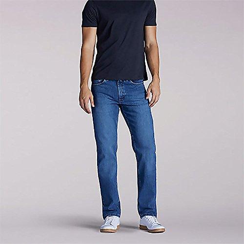 (LEE Jeans Men's Premium Select Regular Fit Straight Leg Jeans Denim)