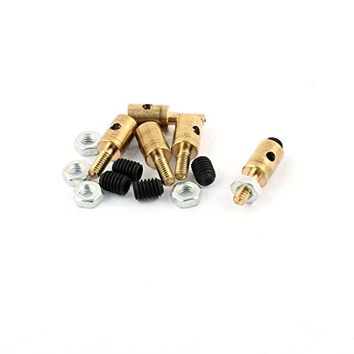 uxcell 5 Pcs 4 x 1.6 x 11mm Copper Linkage Stoppers PRC Push Rod Keepers w Screws