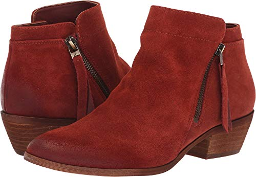 Toe Packer Boots - Sam Edelman Women's Packer Ankle Boot, Paprika Suede, 8 M US