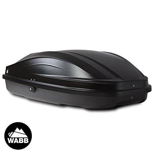 WABB Coffre de Toit S Noir 240 litres MPSA