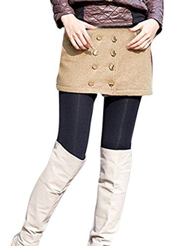 Tasche con Zip Fly DealMux Woman Slant pettine Filo Skort autunno PANT Skirt