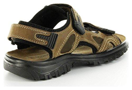 Cortland Pantoletten Braun Leder Sandale Herren Schuhe Outdoor Lederdeck Harry Braun