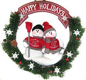 SC Sports Tampa Bay Buccaneers Team Snowman Wreath - Tampa Bay Bucanneers One Size ()
