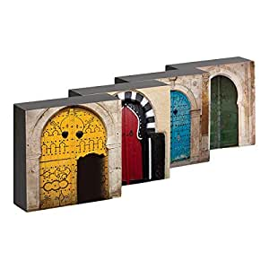 Gallery One Multi Color Open Doors to Arabia Picture Box 4 Piece Set
