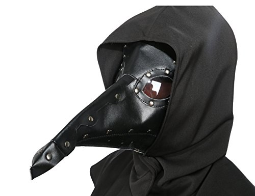 xcoser Plague Doctor Mask Props Halloween Steampunk Costume