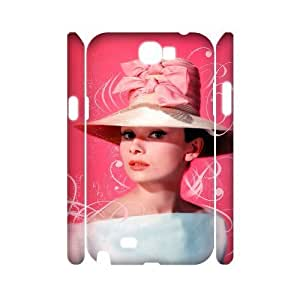 C-EUR Audrey Hepburn Customized Hard 3D Case For Samsung Galaxy Note 2 N7100