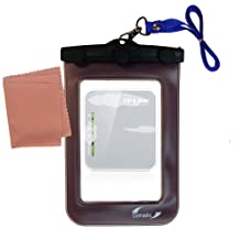 outdoor Gomadic waterproof carrying case suitable for the TP-Link TL-MR3020 to use underwater - keeps device clean and dry
