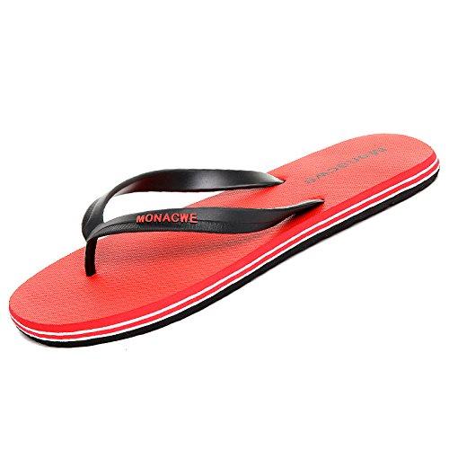 Sandali Sandali con The Sandali Red Sandali Uomo Scarpe estivi maschili Sandali AIHUWAI Antiscivolo Infradito Outdoor infradito Uomo 1AqxzggT