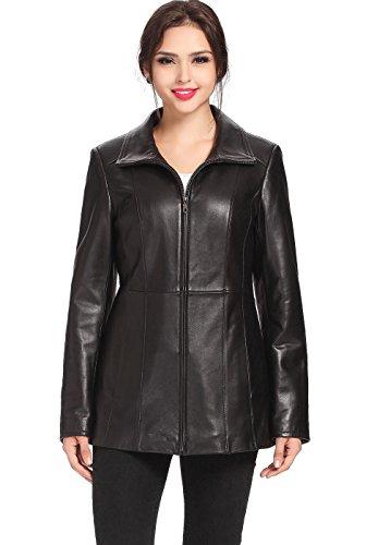 - BGSD Women's Becca Lambskin Leather Jacket - L