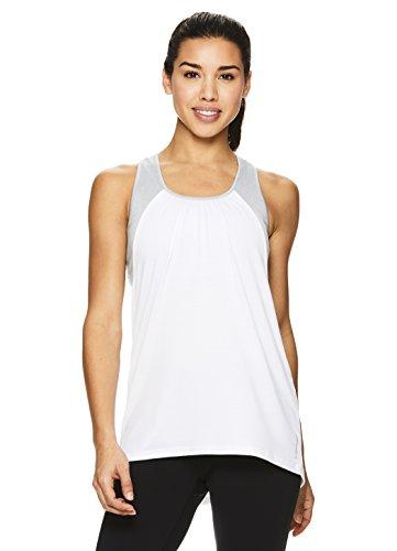 HEAD Women's Racerback Workout Tank Top - Ladies Activewear Shirt w/Open Back Detail - Stark White Contender, X-Small