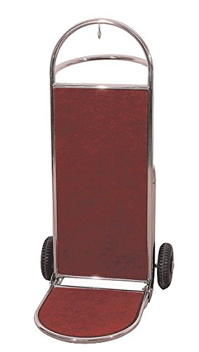 Equipaje Transporte Carrito Hotel (maletín Carrito Pack (Formato Vertical Acero Plata Color Burdeos: Amazon.es: Hogar