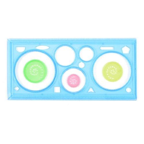 eDealMax plastica Bambini stazionario Spirograph Righello Disegno Giocattolo, blu