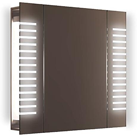 Beatle Demist LED Bathroom Cabinet With Demister Pad Sensor Shaver K1601i