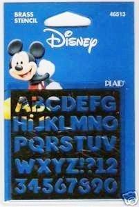 Disney Brass Stencil Alphabet (Stencils Disney)