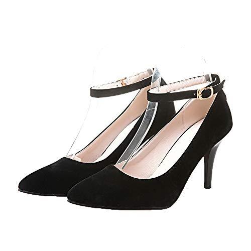 Agoolar Femme Boucle Couleur Chaussures Unie L Stylet Hgqw1fWH