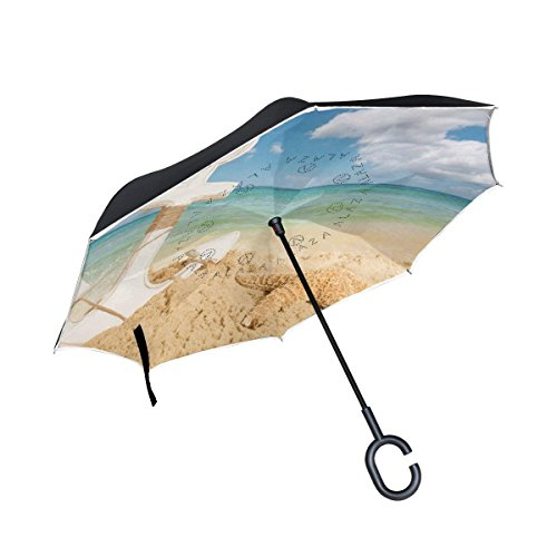 All agree Inverted Reverse Umbrella Anchor Beach Starfish Windproof for Car Rain Outdoor