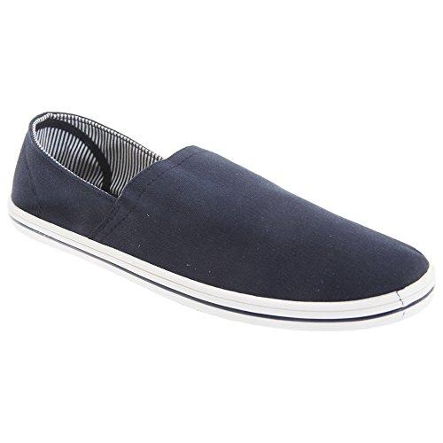 Dek Mens Side Gusset Casual Canvas Summer Shoes Navy blue Y9BBjRil
