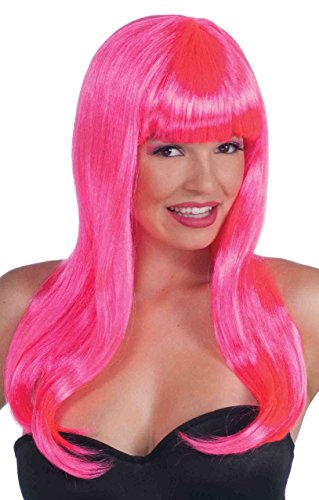 Forum Novelties Party Wig Novelty Item, Pink