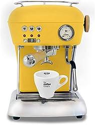 Ascaso Dream Up V3 Sun Yellow PID Wood Handle Semi-Automatic Espresso Machine - w